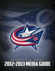 2012-2013 media guide - Columbus Blue Jackets
