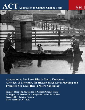 Adaptation to Sea Level Rise in Metro Vancouver - ACT