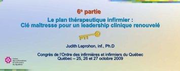 Partie 6 - Ordre des infirmières et des infirmiers du Québec
