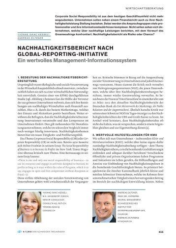 nachhaltigkeitsbericht nach global-reporting-initiative Ein ... - consag.