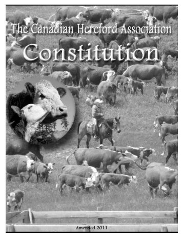 Constitution - Canadian Hereford Association