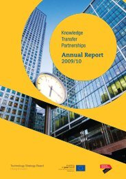 Annual Report 2009/10 - Knowledge Transfer Partnerships