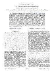 Van der Waals density functionals applied to solids - Department of ...