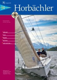 Editorial Club Regatta Junioren und noch dies … - Yacht Club Zug