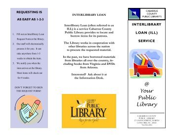 Interlibrary Loan Brochure - Cabarrus County
