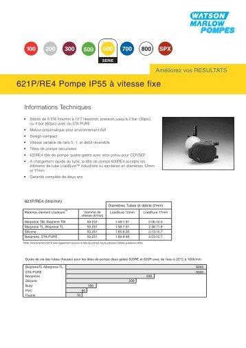 621P/RE4 Pompe IP55 à vitesse fixe - Watson-Marlow GmbH