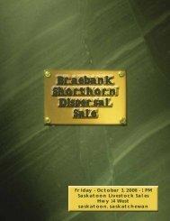 Braebank Shorthorn Dispersal Sale - SaskLivestock