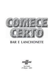 Bar e Lanchonete - COMPLETO - Sebrae