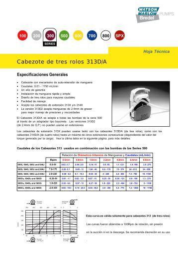 Especificaciones Generales - Watson-Marlow GmbH
