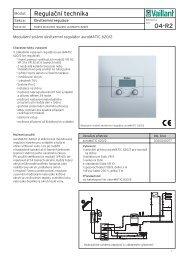 Regulační technika 04-R2 - Vaillant