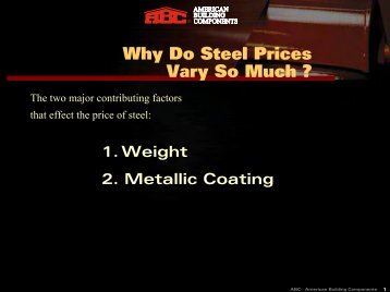 Why Do Steel Prices Vary So Much ? - American Building Components