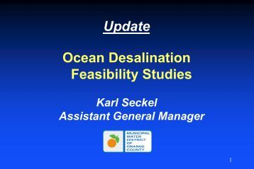 Ocean desalination - Municipal Water District of Orange County