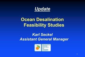 Ocean desalination - Municipal Water District of Orange County