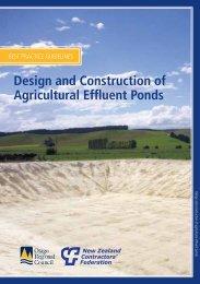 Design and construction of agricultural effluent ponds - booklet (807 ...