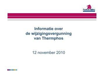 Presentatie openbare bijeenkomst 12 november ... - Provincie Zeeland