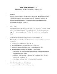 MOOT COURT BOARD BYLAWS UNIVERSITY OF ... - College of Law