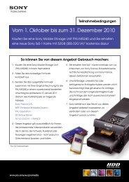 Vom 1. Oktober bis zum 31. Dezember 2010 - Introducing '1' from Sony