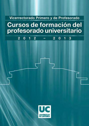 Cursos de Formacion del Profesorado Universitario 2012-2013