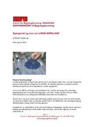 Spørgsmål og svar om linoliemaling - Center for Bygningsbevaring