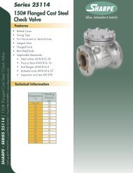 Series 25114 150# Flanged Cast Steel Check Valve - Sharpe® Valves