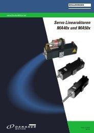 Servo Linearaktoren MA40x und MA50x - BIBUS SK, sro