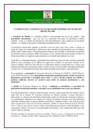 CANDIDATURAS À NOMINAÇÃO NO ... - Arquivo Nacional
