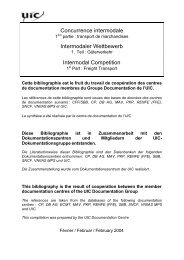 Intermodaler Wettbewerb, 1. Teil: Güterverkehr - UIC