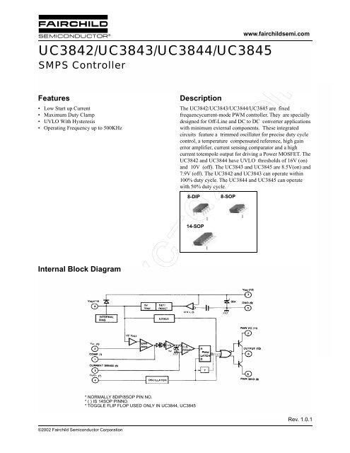 UC3842/UC3843/UC3844/UC3845 SMPS Controller