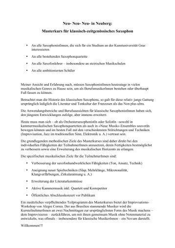 NeubergMASTERKURS 2012-3-3 - Neuberger Kulturtage