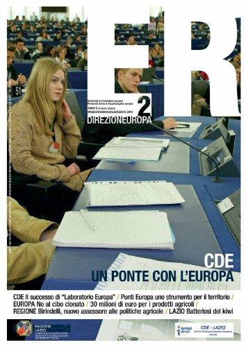 Europa Rurale anno 6 n. 2 maggio/agosto - Agricoltura - Regione ...