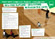 New Age Kurling challenge card - School Games