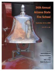 arizona state fire training committee - Department of Fire,Building ...