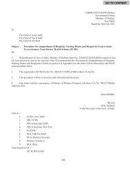 Procedure For Empanelment of Hospitals, Nursing Homes ... - ECHS