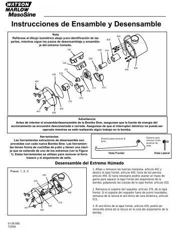 Instrucciones de Ensamble y Desensamble - Watson-Marlow GmbH
