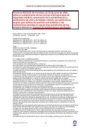 Directiva 95/21/CE del Consejo, de 19 de junio de 1995 ... - Miliarium