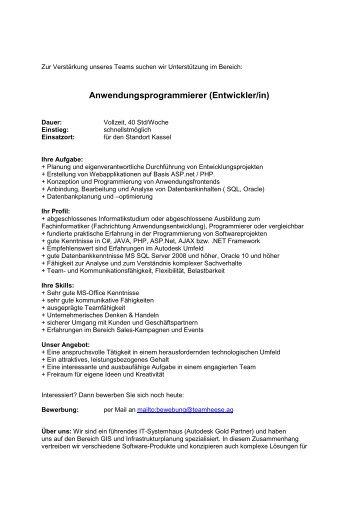 Stellenbeschreibung als PDF - Team Heese AG