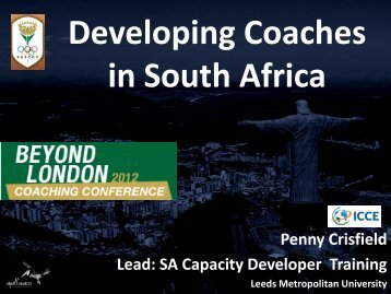 Developing Coaches delegate - HP - Sascoc