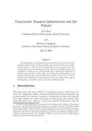 Cross$border Transport Infrastructure and Aid Policies! - Institute for ...