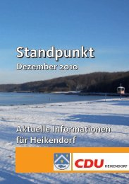 Hier der Standpunkt für Dezember 2010 - CDU Heikendorf