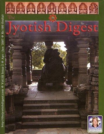 Jyotish Digest - Spirit of Life, Rick Payne-Below - Biosproject.org