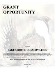 sage grouse conservation - Montana Association of Conservation ...