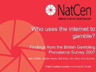 Who Uses The Internet To gamble? Findings From