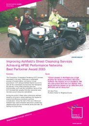 Improving Ashfield's Street Cleansing Services Achieving APSE ...