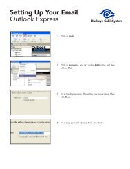Setting Up Your Email Outlook Express - Buckeye CableSystem