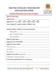 visiting scholar / researcher application form - Faculty of Education