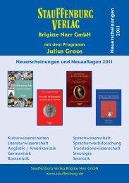 Julius Groos - Stauffenburg Verlag