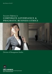 CORPORATE GOVERNANCE & PRAGMATIC BUSINESS ETHICS