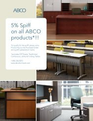 5% Spiff on all ABCO products*!! - ABCO Office Furniture