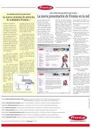 La nueva presentación de Fronius en la red - dpiaca