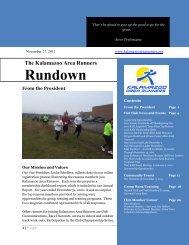 November 2011 - Kalamazoo Area Runners